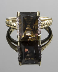Ring, Smoky Quartz & Diamond