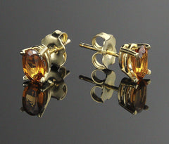 Earrings, Garnet (Spessartite)