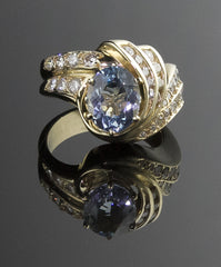 Ring, Aquamarine & Diamond