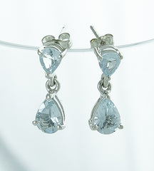Earrings, Aquamarine