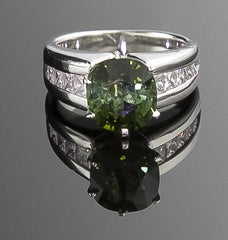 Ring, Tourmaline & Diamond