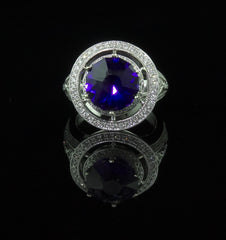 Ring, Amethyst & Diamond