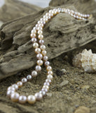Necklace, Pearl,  (Cultured Salt Water) Multicolored