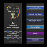 Private Reserve Ink - Assorted Blue & Purple Ink Cartridges 12 Pack