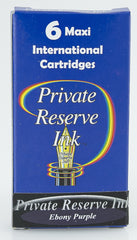 Private Reserve Ink -- Ebony Purple Ink Cartridges 6 Pack Maxi