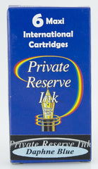 Private Reserve Ink -- Daphne Blue Ink Cartridges 6 Pack Maxi