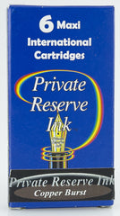 Private Reserve Ink -- Copper Burst Ink Cartridges 6 Pack Maxi