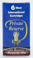 Private Reserve Ink -- Burgundy Mist Ink Cartridges 6 Pack Maxi