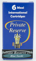 Private Reserve Ink -- Blue Suede Ink Cartridges 6 Pack Maxi