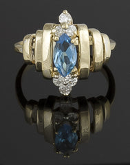 Ring, Topaz & Diamond