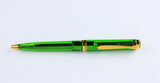 Pelikan, K800 Demonstrator Ballpoint Pen, Transparent Green w/Gold Plated Trim