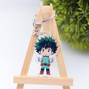 Boku no Hero Academia Action Figure Keychain Double Sided Keyring Anime Peripherals Cute My Hero Academia Key Chains  AKL111