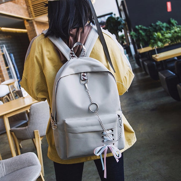 Fashion Women Backpack Female Backpack Leisure Japan Knapsack Casual Shoulder Bags For Women 2019 Teenage Girls Classic Bagpack