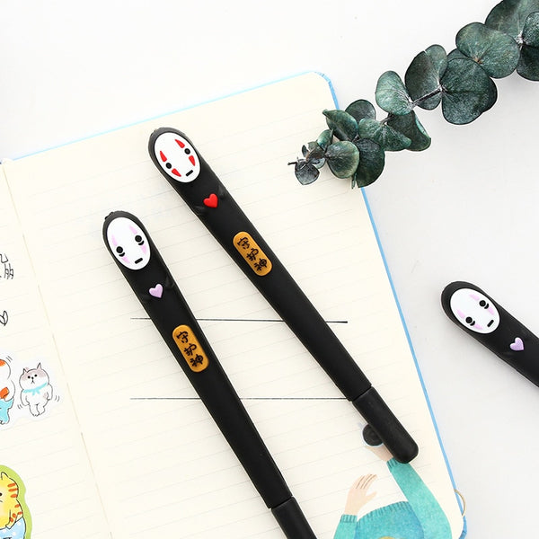 Japan Spirited Away Cute No Face man gel pen Cartoon black 0.5mm pen gift kawaii stationery Office supplies material school