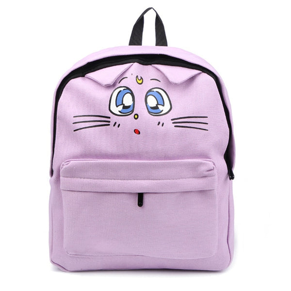 Japanese Style Cute Cat Printing Backpack Students Book Bag Travel Shoulder Bag School Bags For Teenager Girls Mochila Mujer