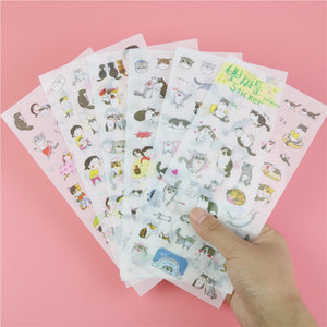 Cute Cat Transparent Background Sticker Diary Decorative Stickers