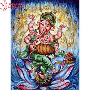 India Krishna DIY Diamond Painting Cross Stitch home decoration 100% full square drill 5D Diamond Embroidery Religion sticker