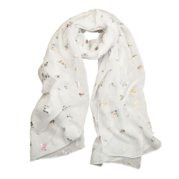Brand New Pashmina Scarf Women Butterfly Print Long Wrap Shawl Stole Scarves shawls india female scarves headband Bali yarn