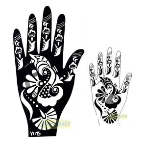 Large India Henna Tattoo Stencil Glitter Temporary Mehndi Tattoo Kit Airbrush Template Tattoo Design for Wowen Hand