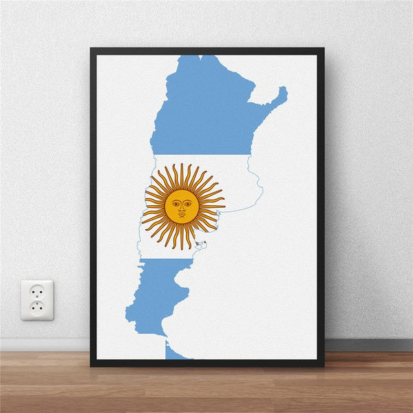colombia Flag Modern Coated poster