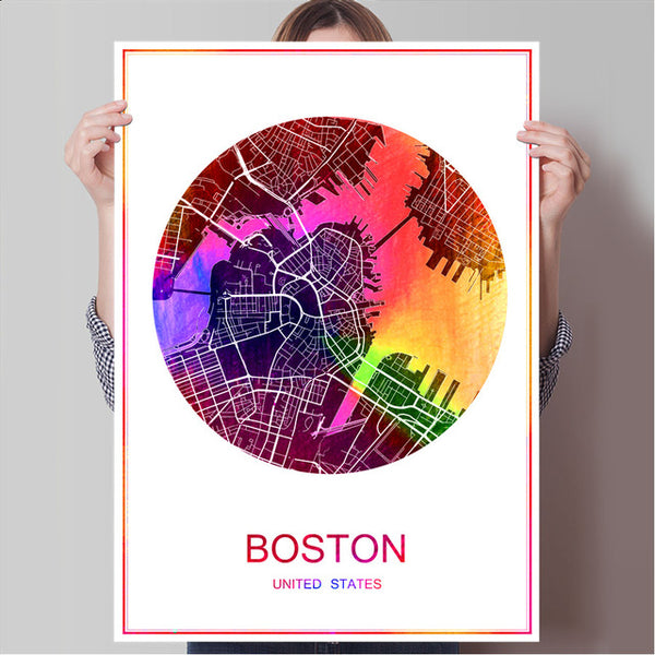BOGOTA Colombia Famous World City Map Print Poste