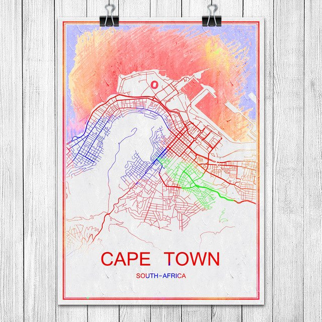 Colorful World City Map BOGOTA Colombia Print Poster