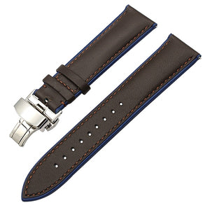 France Genuine Leather Watchband for Samsung Gear S3 Classic Frontier R760/770 Double Color Watch Band Quick Release Wrist Strap