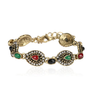 Bracelet For Women   Gold White Crystal Vintage Jewelry
