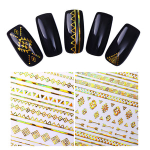 Black & Gold Nail Decals