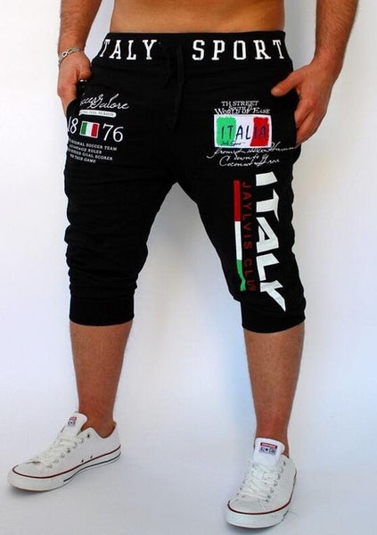 Shorts Mens   Tights Compression Bermuda  Short   Italy Printing Design  Men Homme    Shorts SUWOP