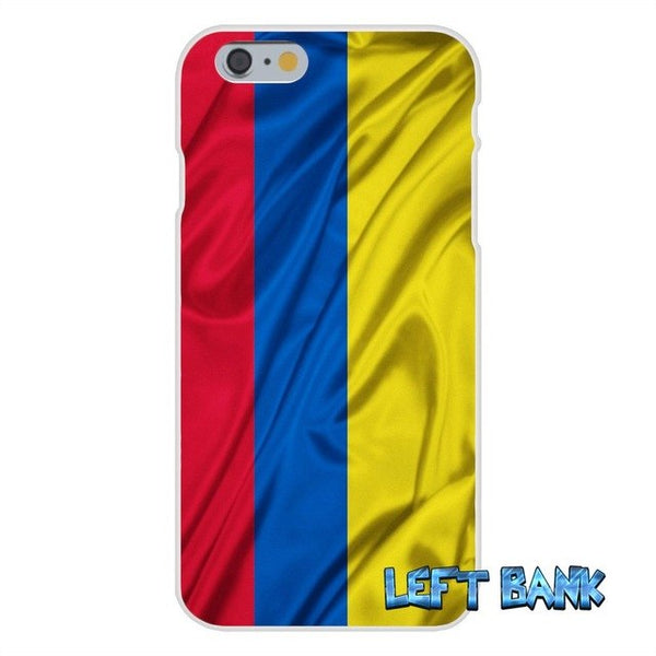 Colombia Flag Soft Silicone TPU Transparent Cover Case
