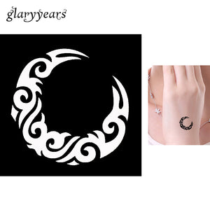 India Henna Tattoo Stencil Circle Totem Design Women Body Art Small Henna Template Airbrush Painting Temporary