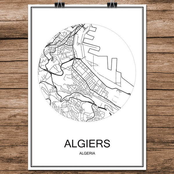 BOGOTA Colombia Print Poster Abstract
