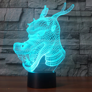 USB Dragon's Head LED Lamp