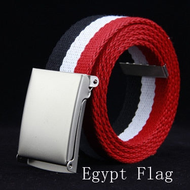 Egypt Flag Canvas Striped Belt  Strap For Man