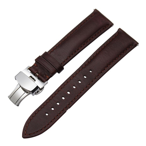 France Genuine Leather Watchband 18mm 20mm 22mm Quick Release Watch Band Steel Buckle Wrist Strap for Seiko Omega Tissot Casio
