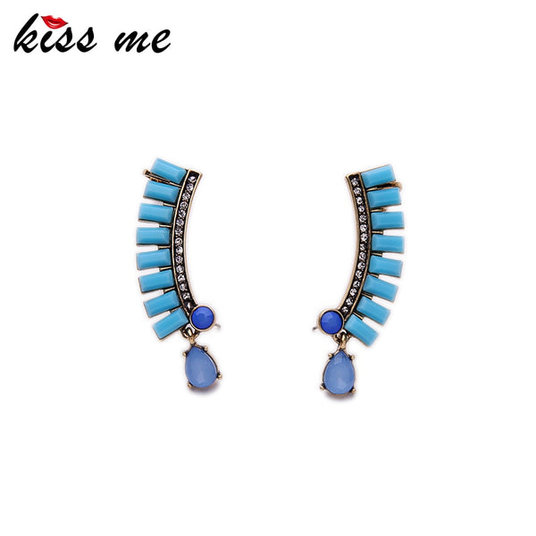 KISS ME Brand Jewelry New Trending Statement Earrings From India Alloy Geometric Stud Earrings Female
