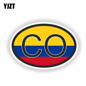 Creative Flag COLOMBIA CO Car Sticker Accessories