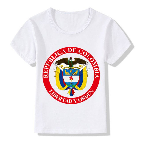 Children Colombia Colombian Print T shirt