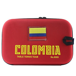 COLOMBIA Team Table Tennis Bag Ping Pong Case