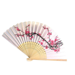 Silk Bamboo Folding Fan
