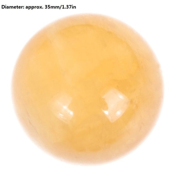 Natural Crystal Yellow Agate Crystal Ball