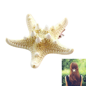 Natural Sea Star Hair Clip