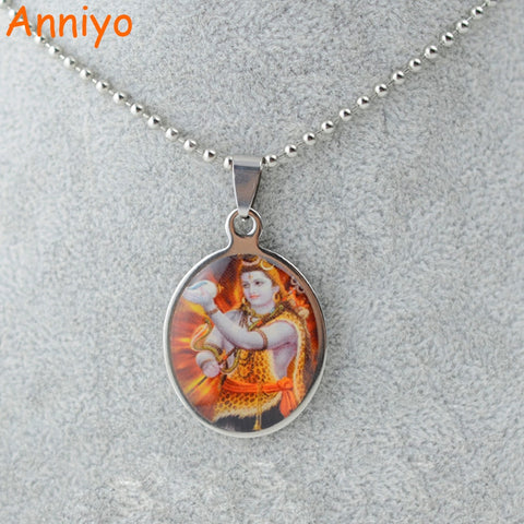 Hindu Deity Goddess Mata Shiva The Destroyer Shaivism Shaivam, India necklaces Made in Stainless Steel Genuine High Grade