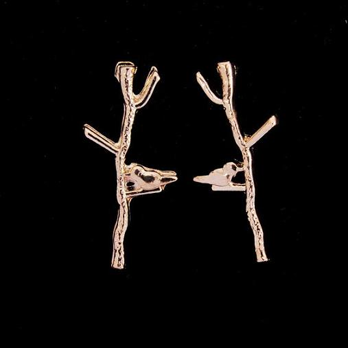 leaf stud earrings for women Ladies earring
