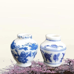 New Fashion Dollhouse Mini Chinese Traditional Ceramics Vase Miniature Decor Props Gift