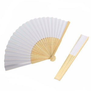 Retro Folding Bamboo Fan