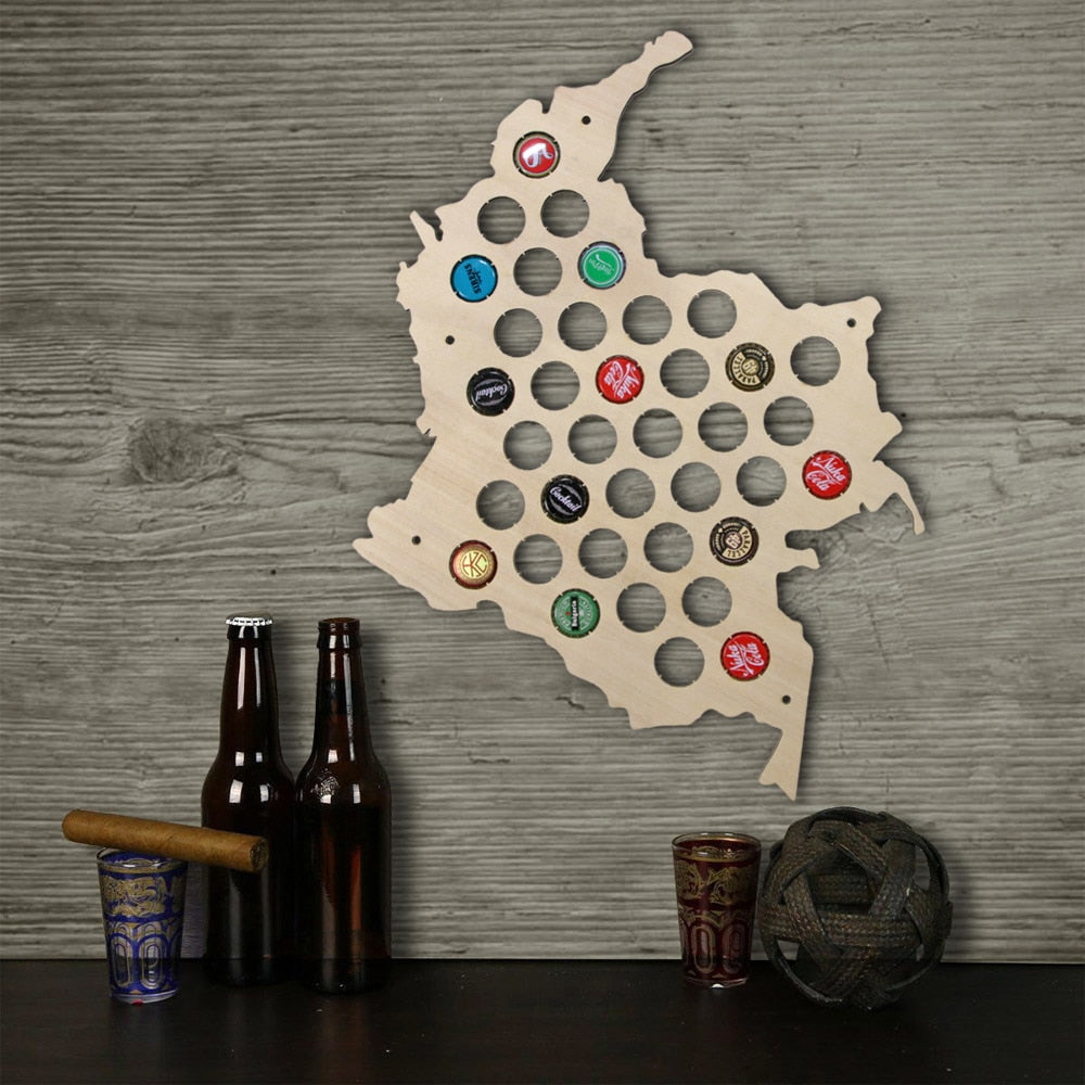Columbia Bottle Cap Map