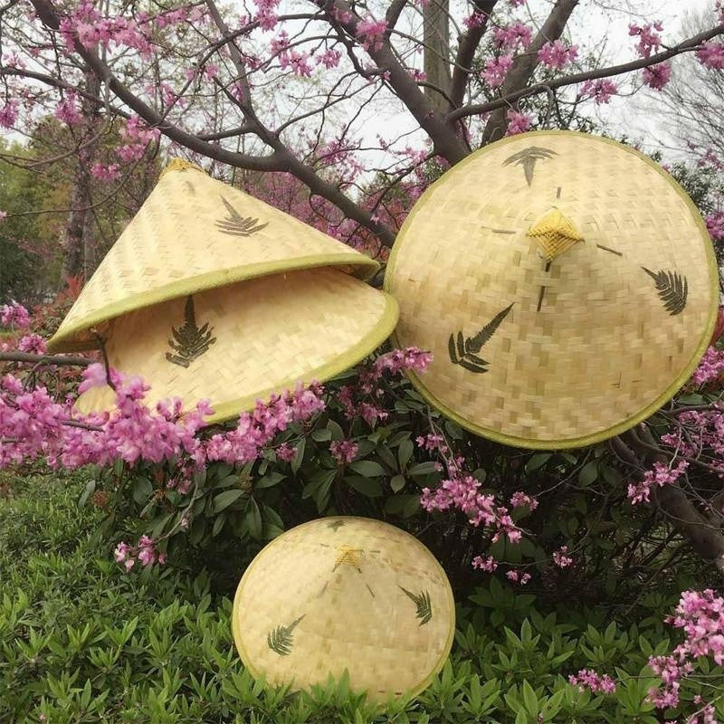 Chinese Oriental Vietnamese Coolie Straw Bamboo Sun Hat Farmer Rice Hat