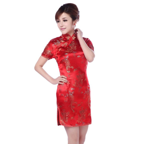 Evening Dress Ball Short Cheongsam Qipao chinese Traditional